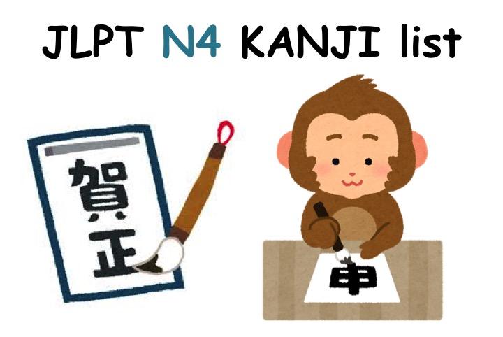 【JLPT N4】KANJI List