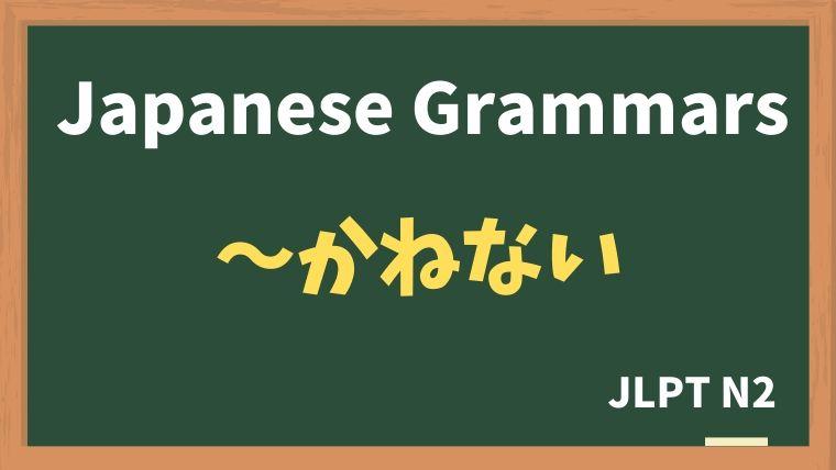 【JLPT N2 Grammar】〜かねない