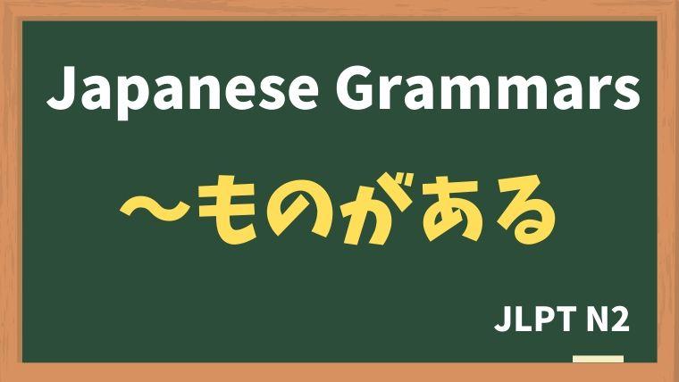 【JLPT N2 Grammar】〜ものがある