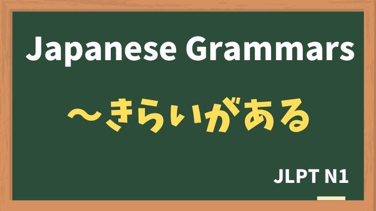 【JLPT N1 Grammar】〜きらいがある
