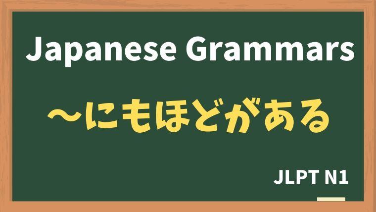 【JLPT N1 Grammar】〜にもほどがある