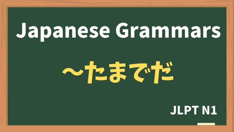【JLPT N1 Grammar】〜たまでだ
