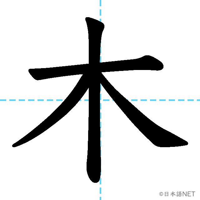 【JLPT N5 Kanji】木