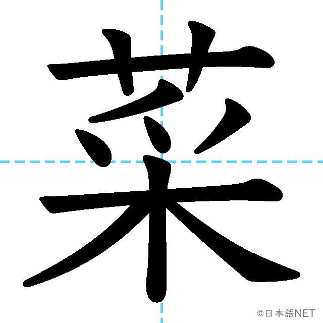 【JLPT N4 Kanji】菜