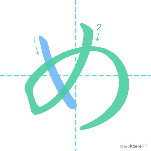 stroke order of 「め」