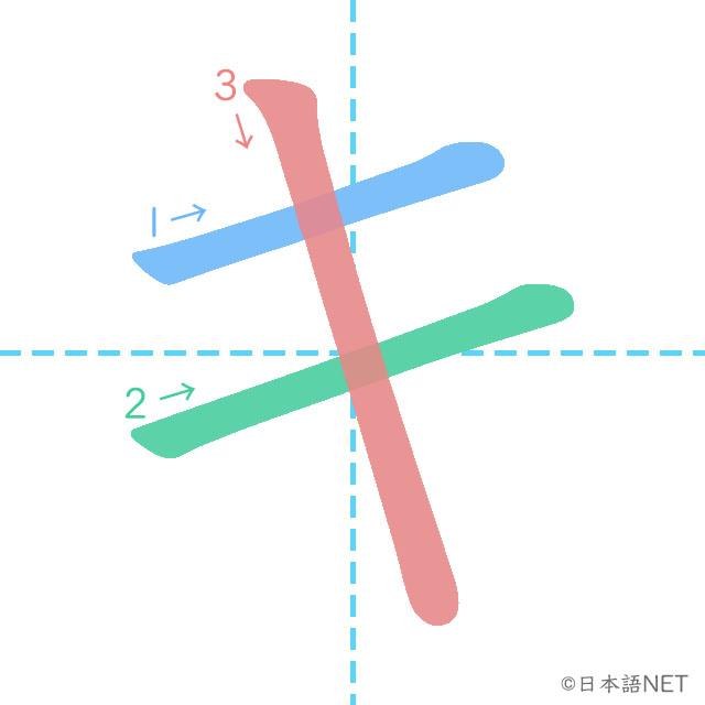 Katakana「キ」