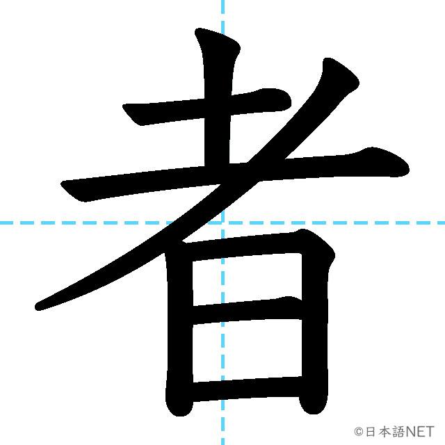 【JLPT N4 Kanji】者