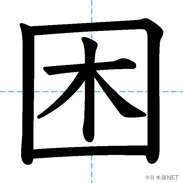 【JLPT N3 Kanji】困