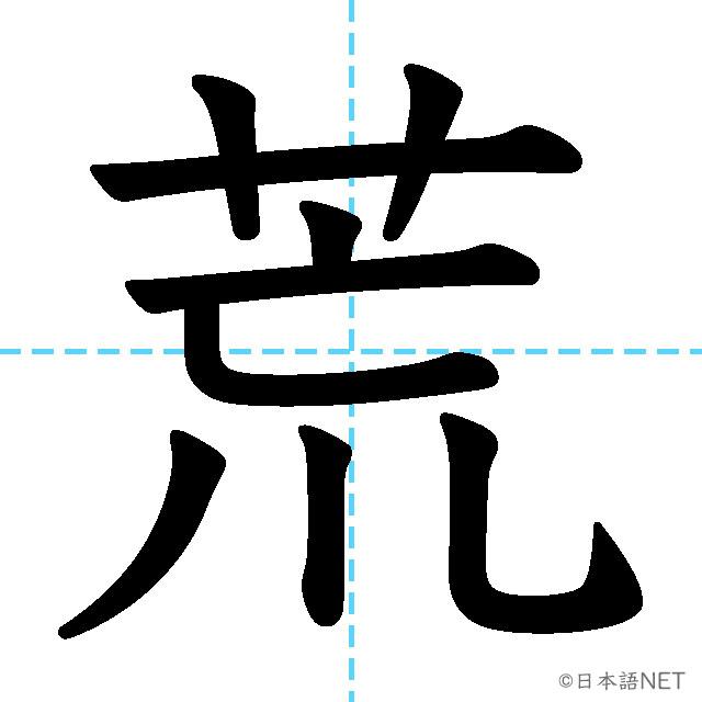 【JLPT N2 Kanji】荒