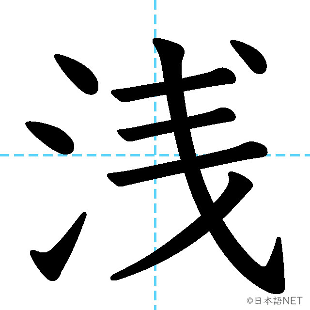 【JLPT N2 Kanji】浅