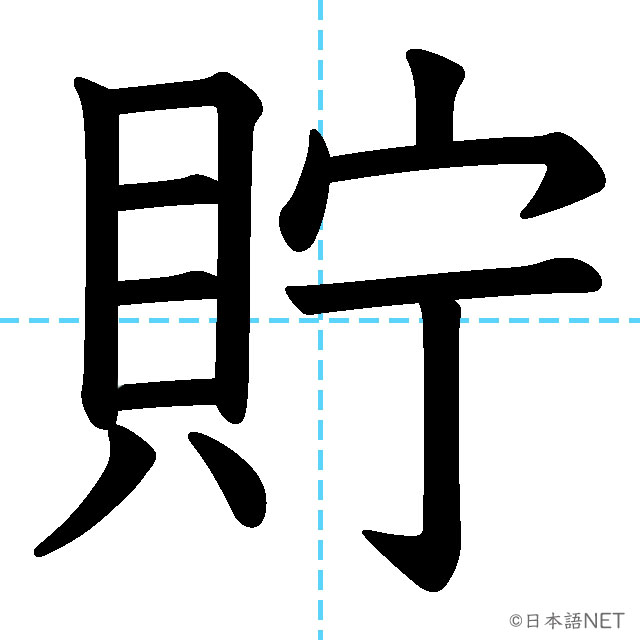 【JLPT N2 Kanji】貯