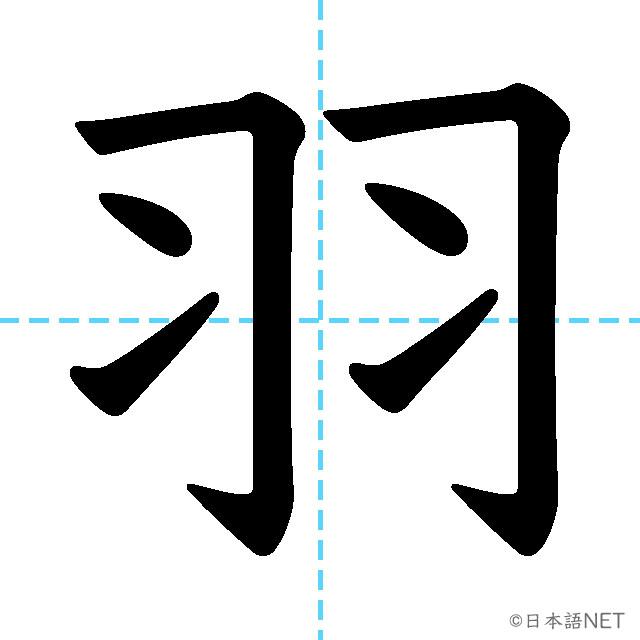 【JLPT N2 Kanji】羽
