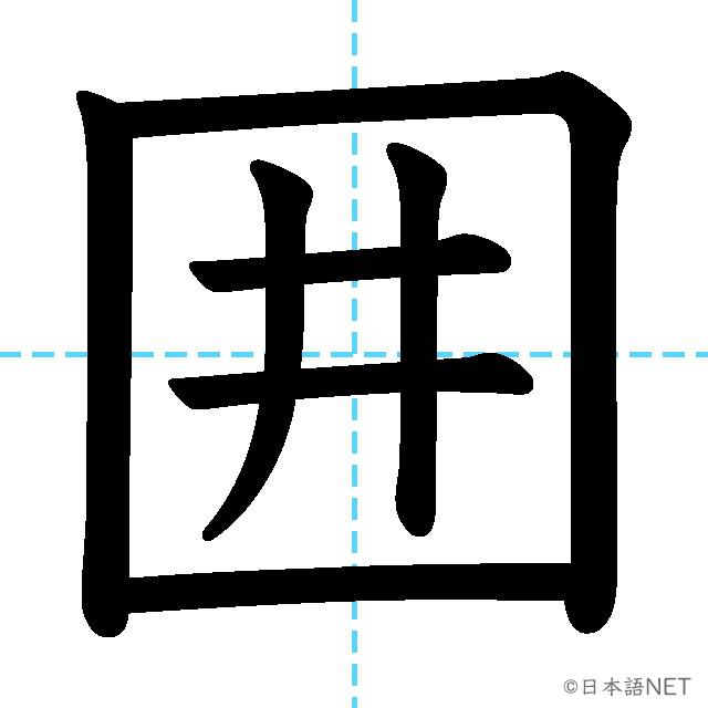 【JLPT N2 Kanji】囲
