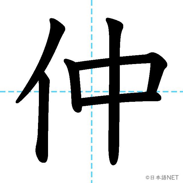 【JLPT N2 Kanji】仲