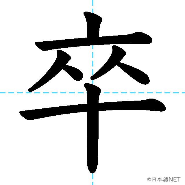 【JLPT N2 Kanji】卒