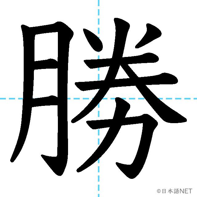 【JLPT N3 Kanji】勝