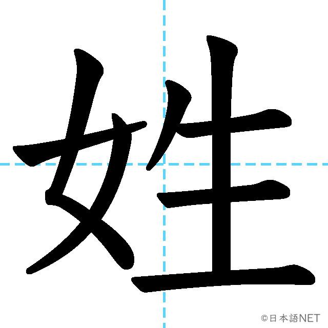 【JLPT N2 Kanji】姓
