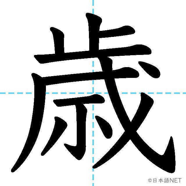 【JLPT N3 Kanji】歳