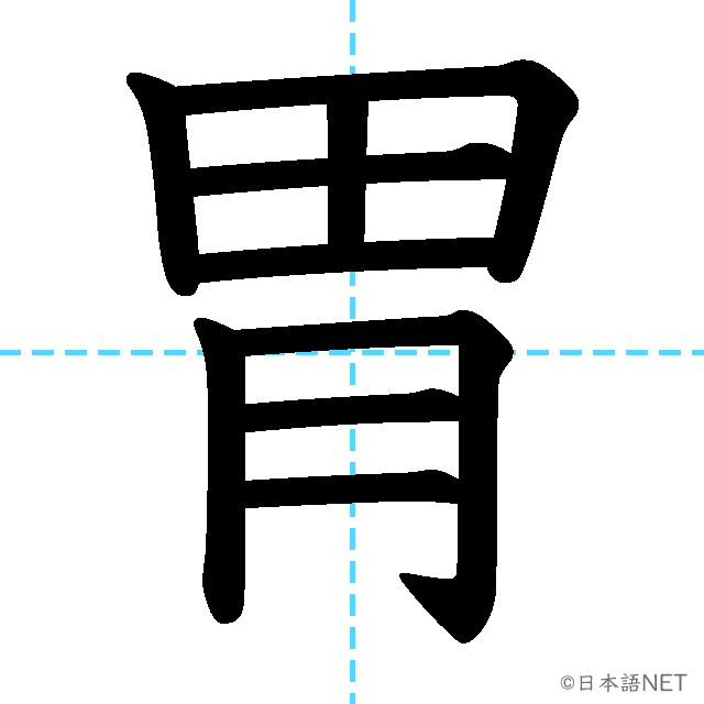 【JLPT N2 Kanji】胃