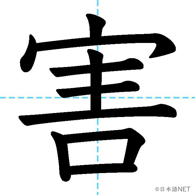 【JLPT N2 Kanji】害