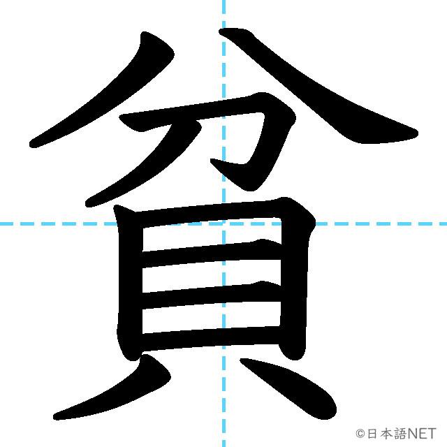 【JLPT N2 Kanji】貧
