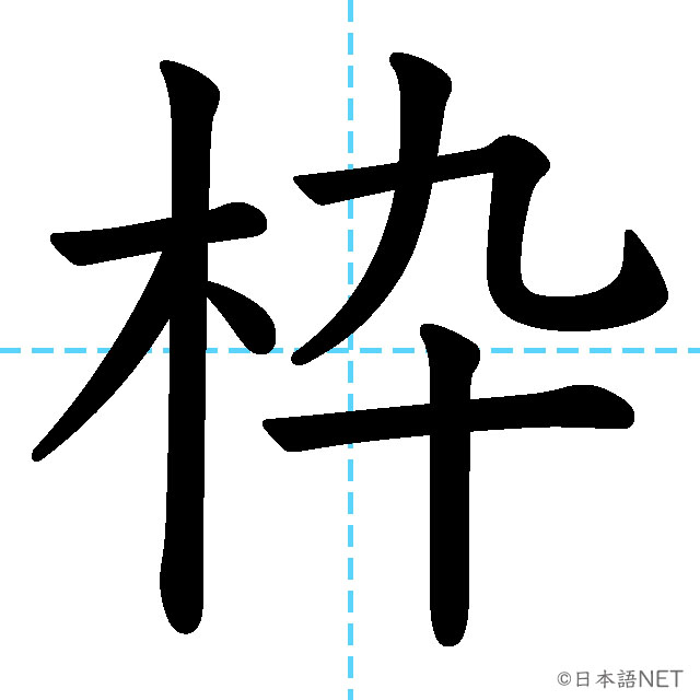 【JLPT N1 Kanji】枠