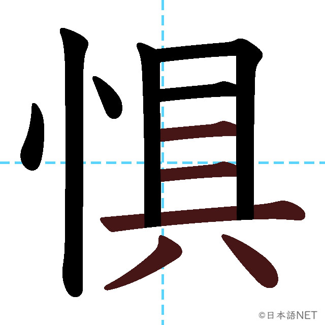 【JLPT N1 Kanji】惧