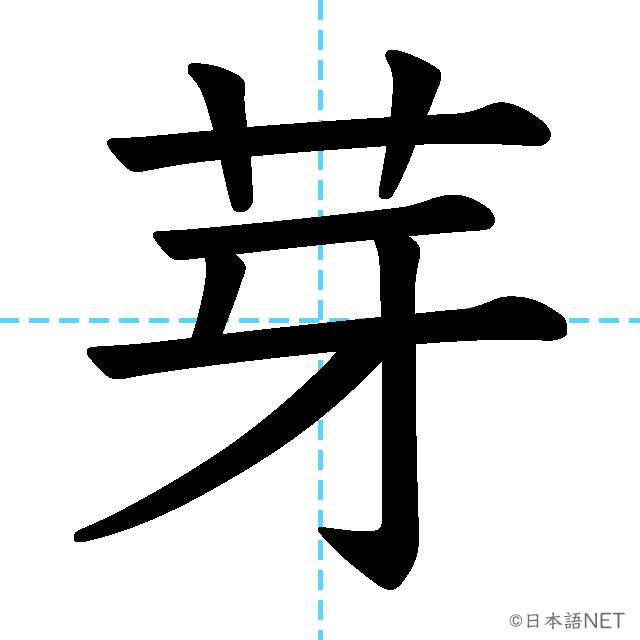 【JLPT N1 Kanji】芽
