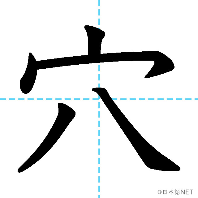 【JLPT N1 Kanji】穴