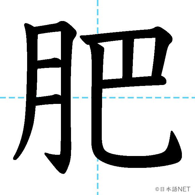 【JLPT N1 Kanji】肥