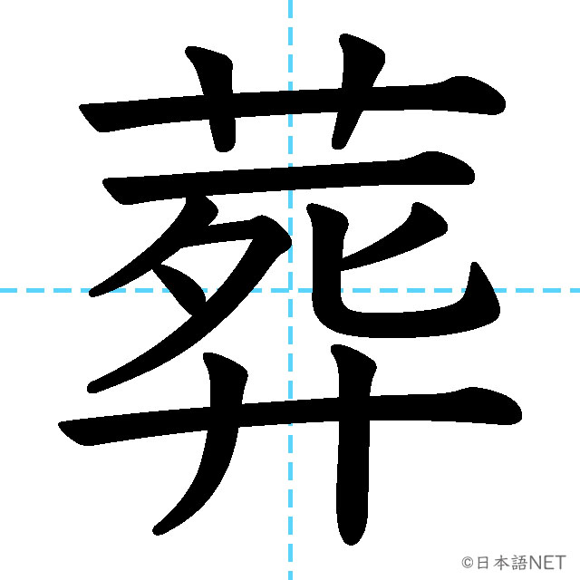 【JLPT N1 Kanji】葬