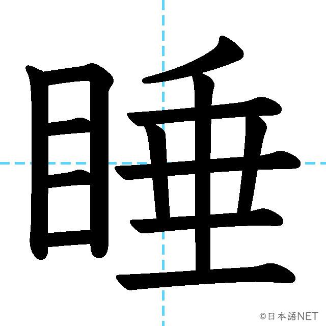 【JLPT N1 Kanji】睡